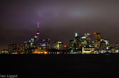 Toronto Skyline (I.C. Ligget) Tags: toronto ontario canada tower skyline night cn buildings nikon long exposure cntower skyscrapers d5100 nikond5100