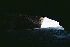 The cave (jaksonroutledge) Tags: ocean california sea film beach analog 35mm landscape kodak fineart documentary olympus ishootfilm 35mmfilm bayarea editorial stylus a3 pointandshoot siliconvalley sangregorio westcoast find filmphotography filmphoto filmisnotdead analogfilm filmcommunity extar100 buyfilmnotmegapixels analogvibe