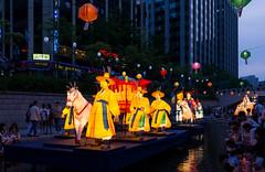 Cheonggyecheon Lanterns (Skagos26) Tags: city travel tourism water festival night lights nikon asia stream culture buddhism seoul lanterns southkorea cheonggyecheon d7100 1024mm