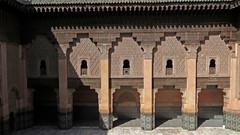 Medersa Ben Youssef Courtyard (macloo) Tags: school windows architecture arches historic morocco marrakech madrassa medersa benyoussef