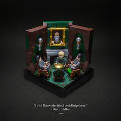 020 - The Slytherin Common Room (roΙΙi) Tags: chamberofsecrets harrypotter draco malfoy crabbe goyle interior slytherin fireplace portrait hogwarts rowling bricks magic vignette