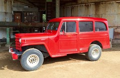 Willys Jeep Station Wagon (Have Fun SVO) Tags: red station wagon texas jeep tx willys