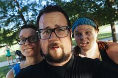 0616 Brad, Emily, Amanda at last day of CG Total Transformation (movies05) Tags: beard glasses exercise sweaty tired bandana workout project365 emilyholt bradholt amandapotter campgladiator