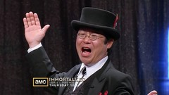 Immortralizer Dr. Takeshi Yamada threw in a SHAZAM! in the episode 3 of the Immortralized, season 1 entitled ODYSSEY, just before he unvails his artworks behind the curtain for the Judges. (searabbits23) Tags: ca ny newyork sexy celebrity art hat fashion animal brooklyn asian coneyisland japanese star tv google king artist dragon god vampire famous gothic goth uma ufo pop taxidermy vogue cnn tuxedo bikini tophat unitednations playboy entertainer oddities genius mermaid amc mardigras salvadordali performer unicorn billclinton billgates aol vangogh curiosities sideshow jeffkoons globalwarming mart magician takashimurakami pablopicasso steampunk losangels damienhirst cryptozoology freakshow leonardodavinci realityshow seara immortalized takeshiyamada roguetaxidermy searabbit barrackobama ladygaga climategate
