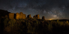 Anasazi Ruin under the Milky Way (Sandra Herber) Tags: newmexico night wow stars astrophotography brilliant anasazi milkyway
