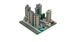 Section DownTown Edge 3 (RedRoofArt) Tags: lego moc mini micro pico pica city building flat architecture