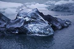 Like a Diamond (daniel_hinrichsen) Tags: ocean blue sea black ice nature water natural hiking floating lagoon calm diamond clear iceberg unreal jkulsrln