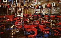 Kon Tiki Ports Restaurant, Sheraton Chicago Hotel, Illinois (SwellMap) Tags: architecture vintage advertising design pc 60s fifties postcard suburbia style kitsch retro nostalgia chrome americana 50s roadside googie populuxe sixties babyboomer consumer coldwar midcentury spaceage atomicage