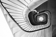 (Magdalena Roeseler) Tags: street camera people art monochrome stairs contrast moments candid strasse fineart streetphotography olympus strassenfotografie bwswblackwhiteschwarzweissmonochromestreetcandid