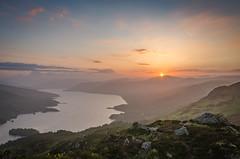 Trossachs Sunset (Cintramontane) Tags: sunset sky lake landscape scotland highlands lakes loch trossachs katrine