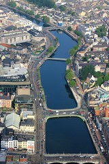 Bend In The River (Rob O'Connor) Tags: morning bridge ireland summer water june port canon river photography traffic cork report bridges aerial lee cessna 2016 96fm afta 550d