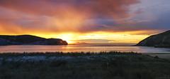 Gorliz sunset (Basque country) (Luis DLF) Tags: sunset sky cloud sun beach canon coast colours down bahia plentzia bizkaia gorliz basquecountry plencia