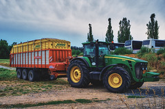 Ready for hard work (Petr Horak) Tags: road tractor color rural europe farmland machinery czechrepublic trailer agriculture hdr agricultural x100