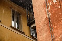 Pioggia Orta (erwannf) Tags: texture water rain weather architecture pluie ochre couleur italie faade ocre mto pimont ortasangiulio