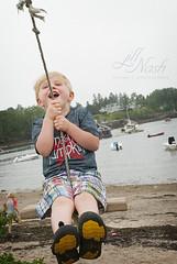 Joy! (grilljam) Tags: summer seamus swing baileyisland 4yrs lobsterboats mackerelcove june2016