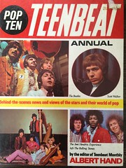 1969 Teenbeat book featuring the Beatles, Scott Walker and the Rolling Stones (humberama) Tags: book rock hendrix jimi retro old vintage 60s sixties rollingstones beatles cover annual music beat teen ten pop