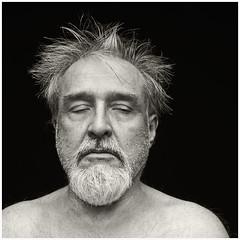 Me 2016 #55; Crazy Old Man #1 (hamsiksa) Tags: man old oldman aging aged portrait selfportrait blackwhite blackwhiteportrait studio studioportrait oldmenarebeautiful crazy insane demented fedup