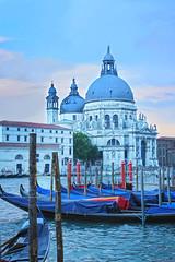 Santa Maria della Salute, Venice, Italy (DietzCL) Tags: venice sunset italy cathedral hdr gondolas