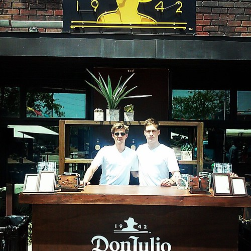 """It's a Don Julio kind of Sunday!  Mixing drinks in """"Dog-town"""" today! #bartenders #donjulio #1942 #events #staffing #tequila #shots #breadandwine #eventlife #surfers #sunnysundays #girlboss #werk #200ProofLA #200Proof"""