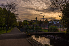 Tavi Sunset (Explore) (trevorhicks) Tags: park bridge sunset canon canal path meadows devon tamron tavistock 6d