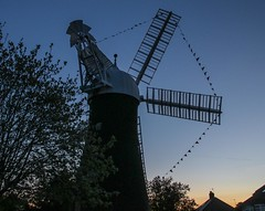 Holgate Windmill at sunset - decorated for the Tour de Yorkshire (1)