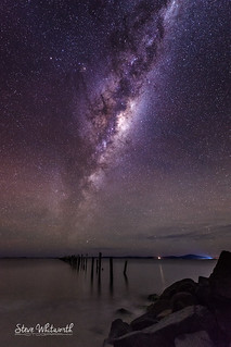 The Milky Way from Old Bridport Jetty