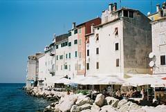 By the sea (Stephanie Overton) Tags: travel windows sea urban art film festival architecture 35mm buildings europe pentax croatia unknown rovinj oversea pentaxart