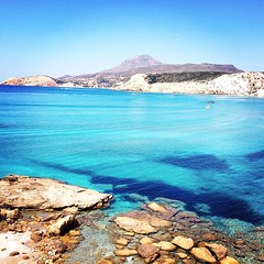 Wild nature beauty in Firiplaka beach , at Milos island () . Exotic & relaxing color of the sea .  Enjoy the Summer . Stunning capture by @mzani60 . --- Tag your Lovely Friends --- #Milos #island #Cyclades #Greece #Aegeansea # (cyclades_islands) Tags: summer nature square relax greek hellas greece exotic squareformat cyclades milos firiplaka iphoneography instagramapp uploaded:by=instagram
