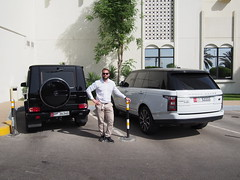 Two of my favourite SUV's. The Mercedes Benz G63 and Range Rover Vogue!