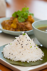 Shane Steamed Rice (sanctuminle) Tags: myanmar inlelake shanstate steamedrice sanctuminleresort