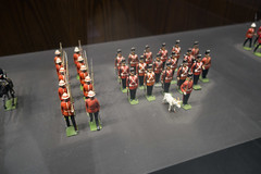 RCMP toy soldiers with goat mascot (quinet) Tags: toronto ontario canada toys police soldiers rcmp polizei soldaten jouets royalcanadianmountedpolice soldats royalcanadianmilitaryinstitute speilzueg