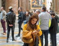 Selfie-ism. Basilica di San Pietro, Roma (e) Tags: portrait woman selfportrait vatican rome roma art heritage monument girl smile lady female pose lost women san femme posing pedro smartphone portraiture di stunning sonrisa dame portret sourire vrouw meisje selfie saintpeter sorria vatikaan sintpietersintpietersbasiliekkerkchurchbasilicabasilica