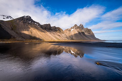 Vestrahorn (tryggstrand) Tags: travel sea sky mountain mountains color reflection beach nature water beauty clouds reflections landscape landscapes iceland spring nikon flickr view d750 tamron 500px instagram nikond750