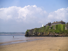 Duncannon (gwen paskins) Tags: ireland sea sky green beach clouds fort wexford duncannon
