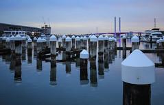 (simon60d) Tags: city bridge sunset sky seascape art water skyline marina landscape outdoors bay cityscape afternoon dusk melbourne docklands posts