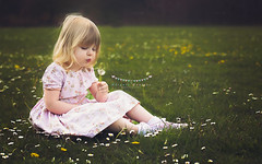 Some see a weed. Some see a wish (abigail.caulton) Tags: summer flower love childhood kids photoshop outdoors 50mm kid spring weed nikon child dress princess time like award winner editing wish favourite comment edit lightroom gtg greaterthangatsby