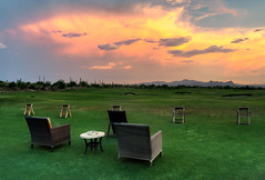 Golf Practice In Arizona At Dove Mountain (Stuck in Customs) Tags: pink sunset arizona orange brown black color colour green sports yellow horizontal night golf table outside outdoors grey day purple chairs outdoor dusk sony country lawn rr august daily dailyphoto hdr 2015 dovemountain hdrphotography hdrphoto stuckincustoms p2016 treyratcliff ilce7rm2 30days2016