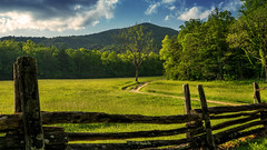 Cades Cove Landscape (HFF) (TGB Filmography) Tags: trees history clouds landscape nationalpark tennessee south southern land roads backroads cadescove thegreatsmokymountains hff sonya77ii
