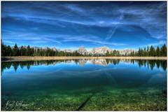 Alpine Lake/Bergsee (Karl Glinsner) Tags: lake mountains alps reflection clouds landscape outdoors austria see österreich wolken berge alpen landschaft spiegelung oberösterreich gebirge upperaustria totesgebirge windischgarsten