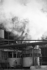Ghosts Of Industries Past - Up In Smoke (Nicky Highlander Photography) Tags: lighting morning blackandwhite mist industry monochrome work industrial factory moody outdoor documentary lifestyle daily steam sugar machinery fieldtrip barbados production caribbean awards process ghostly tanks mention density steampunk neutral honorable saintjames westindies 2015 honorablemention blowers portvale barbadosphotographicsociety ghostsofindustriespast ipoty