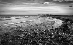 Urbanova (jmpastorg) Tags: sea blackandwhite bw espaa byn blancoynegro landscape mar spain mediterraneo paisaje alicante 1855 d5100