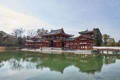 / The Phoenix Hall of Byodo-in (yiming1218) Tags: bridge blue red sky house reflection water japan landscape temple kyoto sony   uji  worldheritage byodoin    a7ii     thephoenixhall a7m2 fe1635 sel1635z ilce7m2