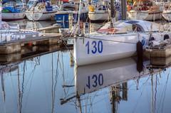 TransAt Yachts 30th April 2016 #11 (JDurston2009) Tags: white reflection water sailing harbour yacht plymouth barbican devon 130 sailingboat suttonharbour transat transatbakerly
