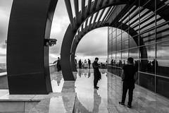"Reflecting / ""Take a picture of me, make it a handsome one"" (zgr Grgey) Tags: street bw reflection rain clouds nikon candid arc cablecar d750 denizli 2016 24120mm teleferik"