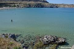 Lindos (Eleanna Kounoupa) Tags: blue sea seascape water weather islands rocks greece beaches rodos lindos    dodecaneseislands