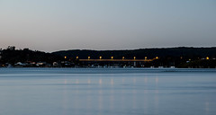 Daybreak at the waterfront (Merrillie) Tags: longexposure bridge sea seascape nature water sunrise landscape outdoors photography dawn bay nikon scenery daybreak waterscape d5500
