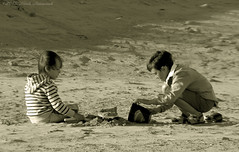 Portrait (Natali Antonovich) Tags: portrait monochrome childhood children seaside profile relaxation seashore seasideresort belgiancoast seaboard