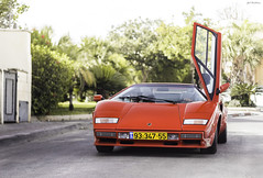 Countach. (Gal cho photography) Tags: world auto street red italy love car canon wow photography 50mm photo telaviv 1982 amazing nice italian italia fast s super best special exotic gal lp expensive lamborghini rare cho countach supercars lambo 5000s cras 650d revers lp500s lp5000s chobotaro