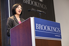 Amy Liu, vice president and director of the Metropolitan Policy Program, welcomes the keynote speaker and panelists (BrookingsInst) Tags: usa angel dc washington liu amy metro cities growth program oecd brookings metropolitan policy inequality guerria inclsuive inclusivecities