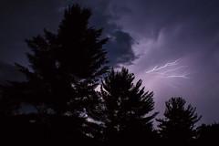 Light 3 (wanderingschnaars) Tags: adirondacks adk sony alpha a6000 lightning thunder storm night canon photography nature trees light sky natgeo national geographic